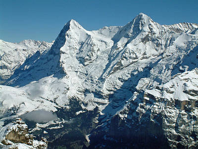 Eiger And Monsch Swiss Alps Poster by Joseph Hendrix