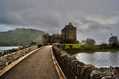 Eilean Donan Castle Poster by Mike Matejewicz
