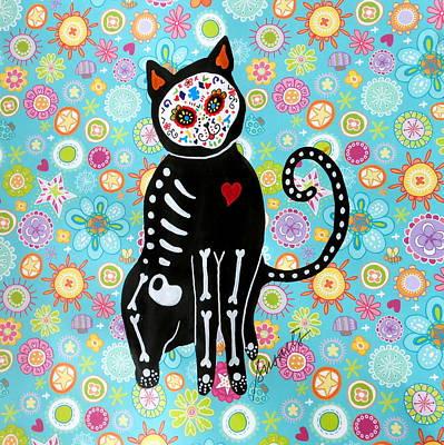 El Gato Dia De Los Muertos Poster