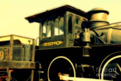 El Reno Locomotive In Old Tuscon Arizona Poster