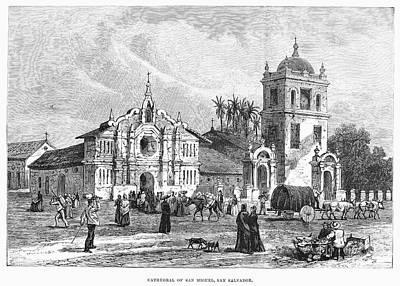 El Salvador: Cathedral Poster by Granger