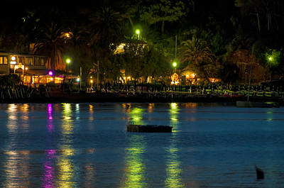 Poster featuring the photograph Elba Island - Night Sea Reflections - Ph Enrico Pelos by Enrico Pelos