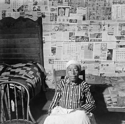 Elderly Former Slave In Her Sitting Poster by Everett
