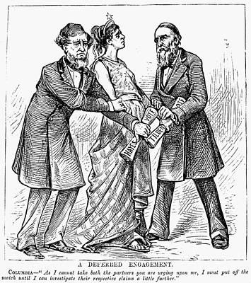 Election Cartoon, 1876 Poster