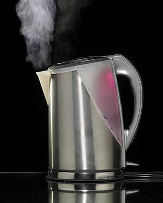 Electric Kettle Boiling Poster by Mark Sykes