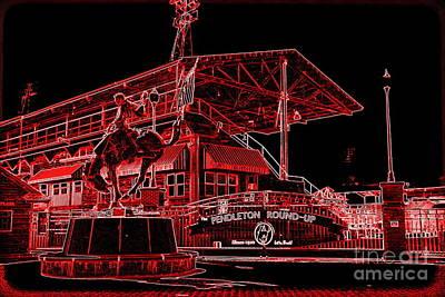 Electric Night Rodeo - Digital Art Poster by Carol Groenen