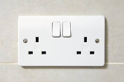 Electric Wall Socket Poster by Johnny Greig