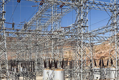 Electrical Power Station At Hoover Dam Poster