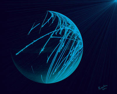 Electriglobe In Blue Poster