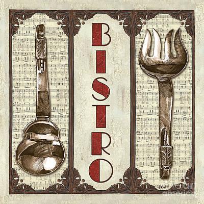 Elegant Bistro 1 Poster by Debbie DeWitt