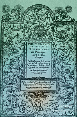 Elements Of Geometry, Frontispiece Poster by Science Source