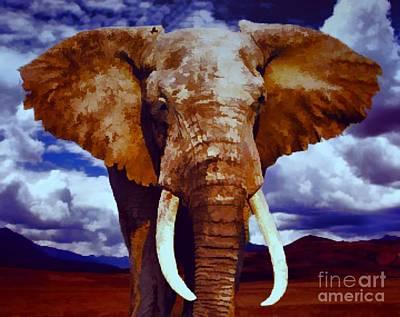 Elephant Poster by Jerry L Barrett
