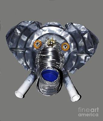 Elephant Mask Poster by Bill Thomson