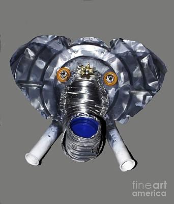 Elephant Mask Poster