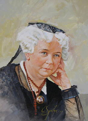 Poster featuring the painting Elizabeth Cady Stanton by Cliff Spohn