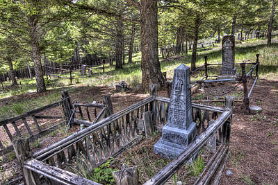 Elkhorn Ghost Town Cemetery - Montana Poster by Daniel Hagerman
