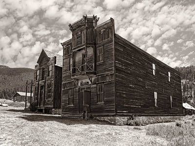 Elkhorn Ghost Town Public Halls 3 - Montana Poster by Daniel Hagerman