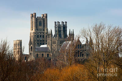 Poster featuring the photograph Ely Cathedral Scenic by Andrew  Michael