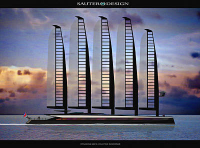 Emax E-volution Schooner Poster by Richard Sauter