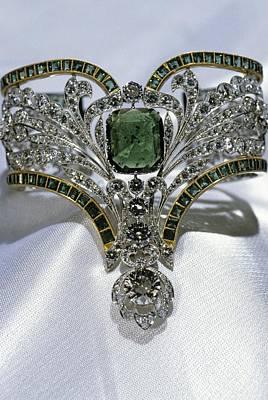Emerald And Diamond Bracelet Poster by Ria Novosti