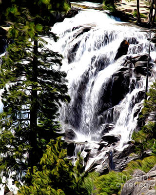Poster featuring the photograph Emerald Bay Waterfall by Anne Raczkowski