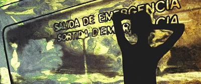 Emergency Exit - Arte Silueta Tren Poster