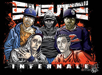 Emeute Infernale - Black Version Poster by Tuan HollaBack
