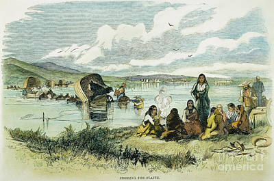 Emigrants In Nebraska, 1859 Poster by Granger