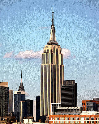 Poster featuring the photograph Empire State Building by Anne Raczkowski