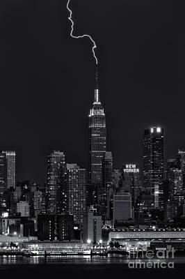 Empire State Building Lightning Strike II Poster