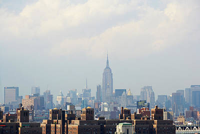 Empire State Building Seen From Lower Manhattan Poster