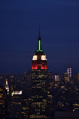 Poster featuring the photograph Empire State Building1 by Zawhaus Photography