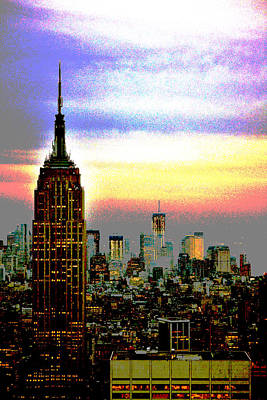 Poster featuring the photograph Empire State Building4 by Zawhaus Photography