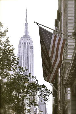 Empire State Stars And Stripes Poster by John Colley