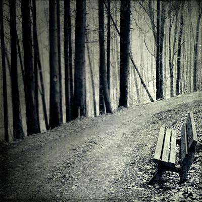 Empty Bench Poster by Dirk Wüstenhagen Imagery