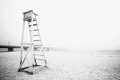 Empty Life Guard Tower 2 Poster by Skip Nall
