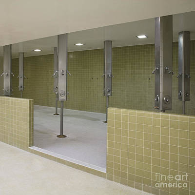 Empty Shower Room Poster
