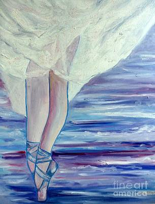 Poster featuring the painting En Pointe by Julie Brugh Riffey