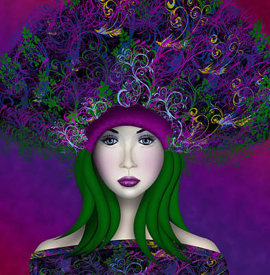 Poster featuring the digital art Enchantress by Katy Breen