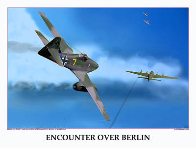 Encounter Over Berlin Poster by Jerry Taliaferro