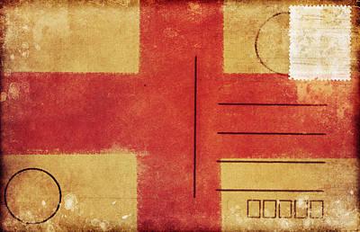 England Flag Postcard Poster by Setsiri Silapasuwanchai