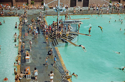 Enjoying The Pool At Jones Beach State Poster by B. Anthony Stewart