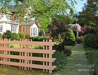 Entrance To A Victorian Garden Poster