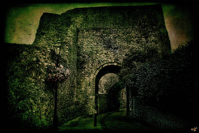 Entrance To Lewes Castle Poster by Chris Lord