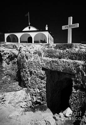Entrance To The Underground Old Church At Ayia Thekla Republic Of Cyprus Europe Poster