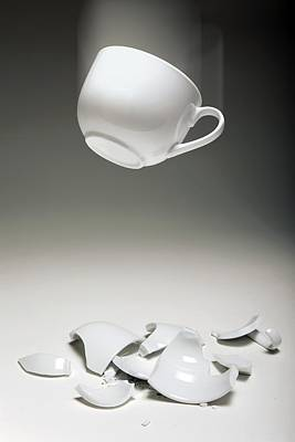 Entropy Shown By Broken Cup Poster by Victor De Schwanberg