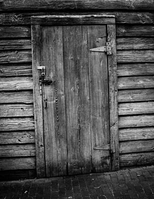 Portrait Of Old Door Poster