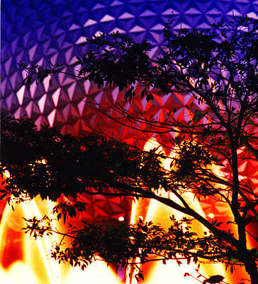 Poster featuring the photograph Epcot Dream by Mike Flynn