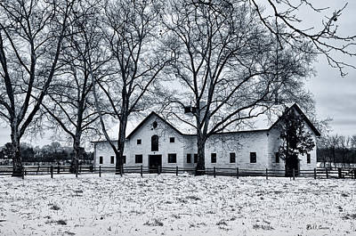 Erdenheim Farm In The Snow Poster by Bill Cannon