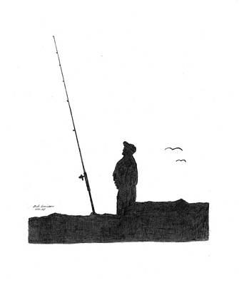 Ernie Fishing Poster by Bob and Carol Garrison
